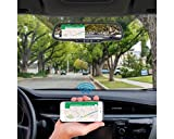 OPTX 4.3 inch Rear View Mirror Monitor with built-in DVR, Bluetooth and Wifi Phone Mirroring
