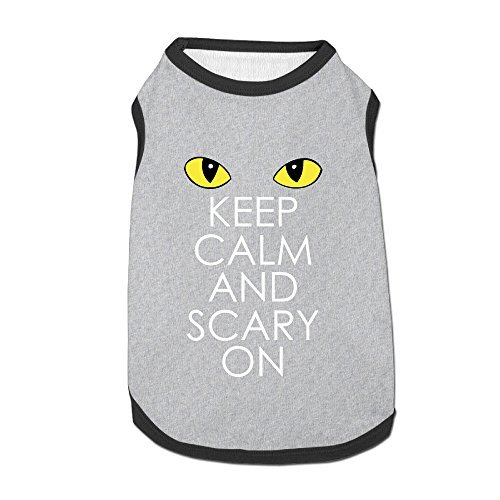 Keep Calm And Scary On Cozy Puppy Clothes Dog Clothing For Dog (Dance Costumes Purchase)