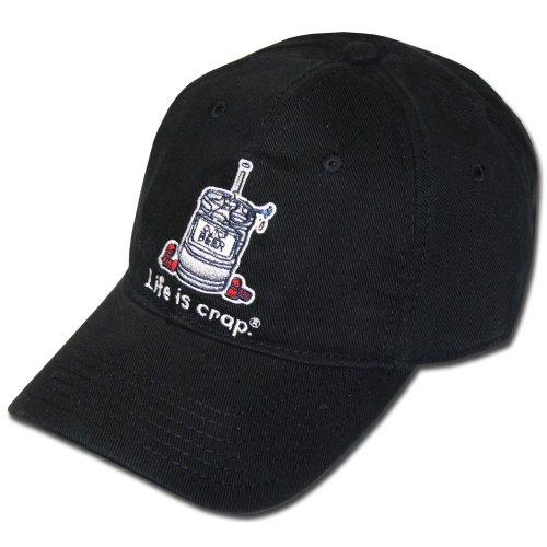 Life Is Crap Hat w/ Pocket : Empty Keg ()