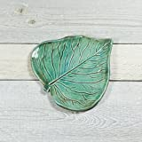 Pottery Leaf - Small Spoon Rest - Ring Dish - Handmade