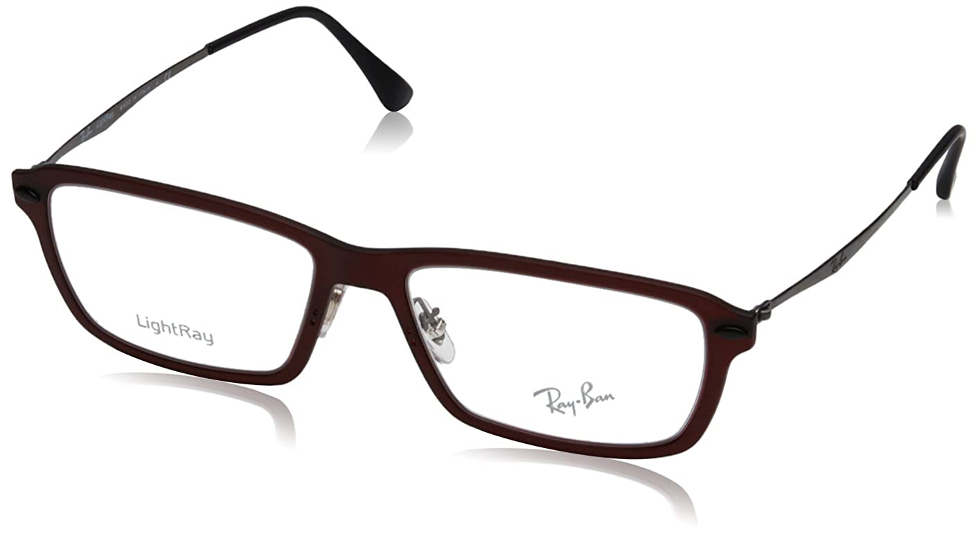 Ray-Ban Eyeglasses RX7038 5456 Dark Matte Red 53 16 135