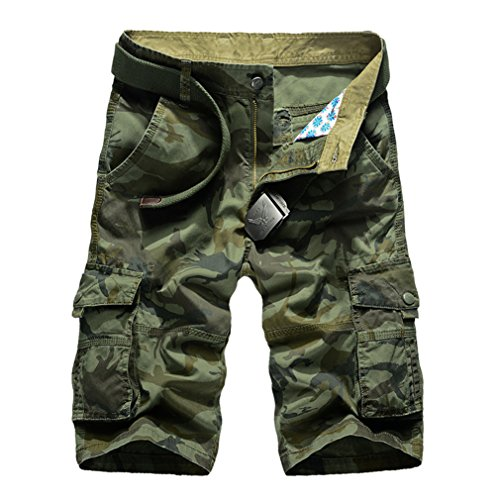 daqinghjxg New Cargo Men Top Design Camouflage Military Army Khaki Shorts Summer Outwear Hip Hop Casual Cargo Camo Green 32 by daqinghjxg