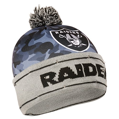 - Oakland Raiders Camouflage Light Up Printed Beanie