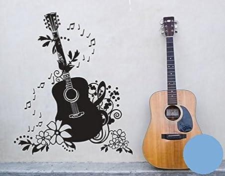 Pared de Pared Tatuajes 3700 Guitarra, plástico, azul_claro, 100cm ...