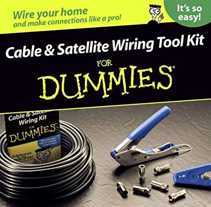 greenlee 77002 cable and satellite wiring kit for dummies - wire strippers  - amazon com
