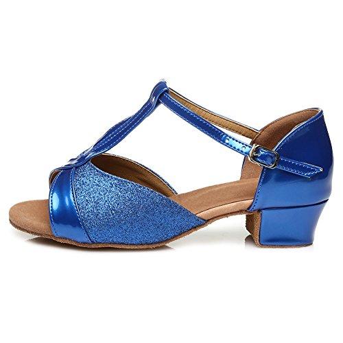 Model Blue Dance HIPPOSEUS Shoes Shoes UK305 Ballroom Girls' Latin HWZqRqxw7O