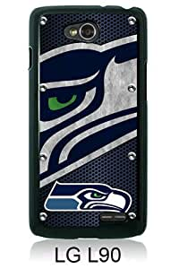 Beautiful And Unique Designed Case For LG L90 With Seattle Seahawks 04 black Phone Case