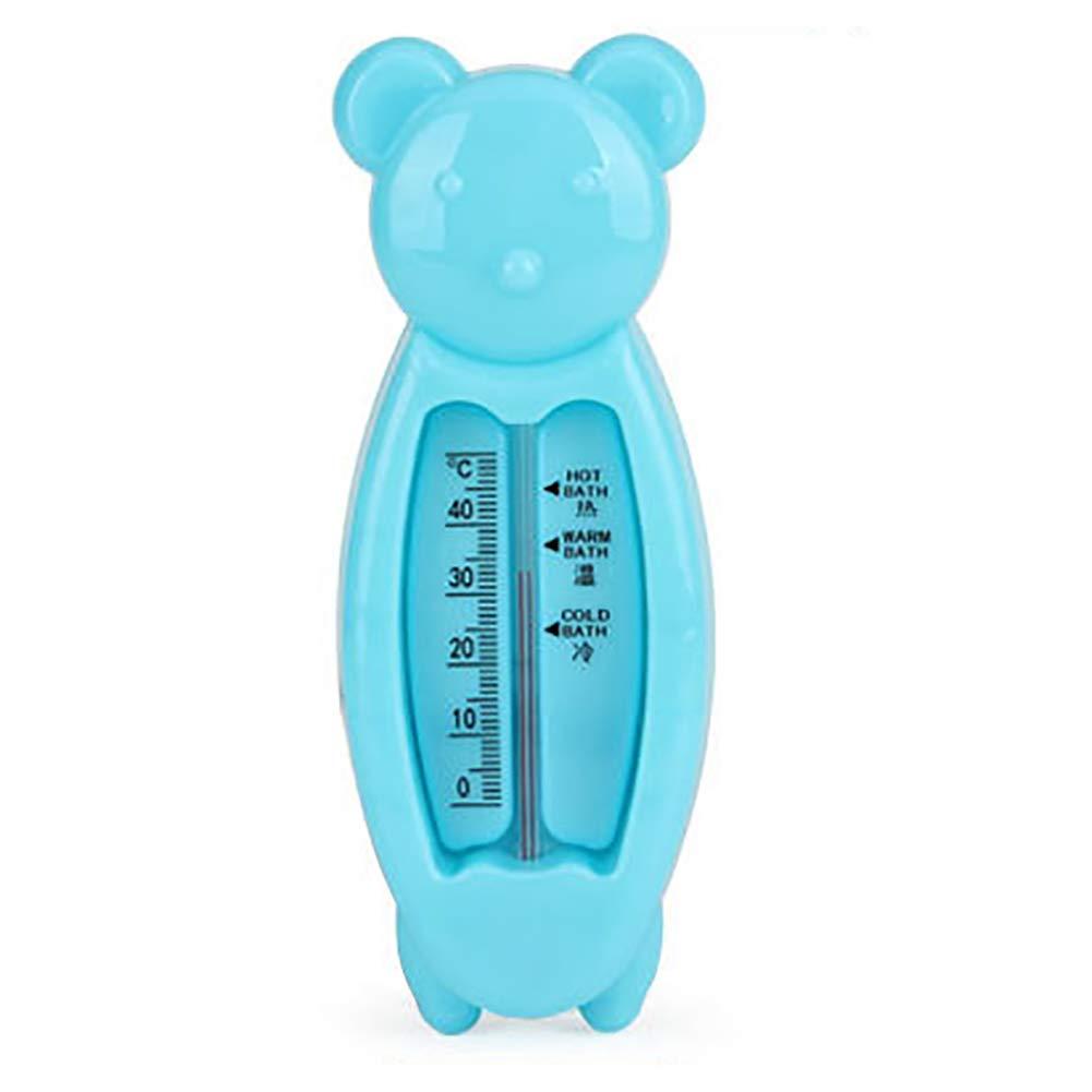 Hilai 1pc Bagnetto Termometro sulle acque di balneazione Temperatura Misura galleggiante giocattolo Utilizzato Nella vasca da bagno e piscina (Blue Bear)