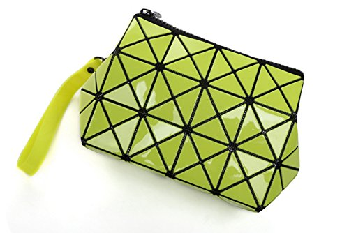 Bag XINJU Women's Strap PVC Wrist Clutch Geometric Wallet Shapes Lady Green Long Purse 6q6gTU