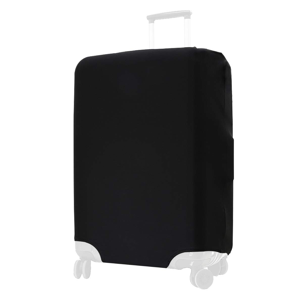 kwmobile Travel Luggage Suitcase Cover - Protective Cover for Carry On Luggage - Spandex Suitcase Protector in Black