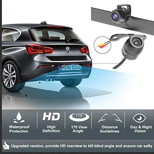 hidden license plate backup camera upgraded rear view camera with 2 install method best for. Black Bedroom Furniture Sets. Home Design Ideas