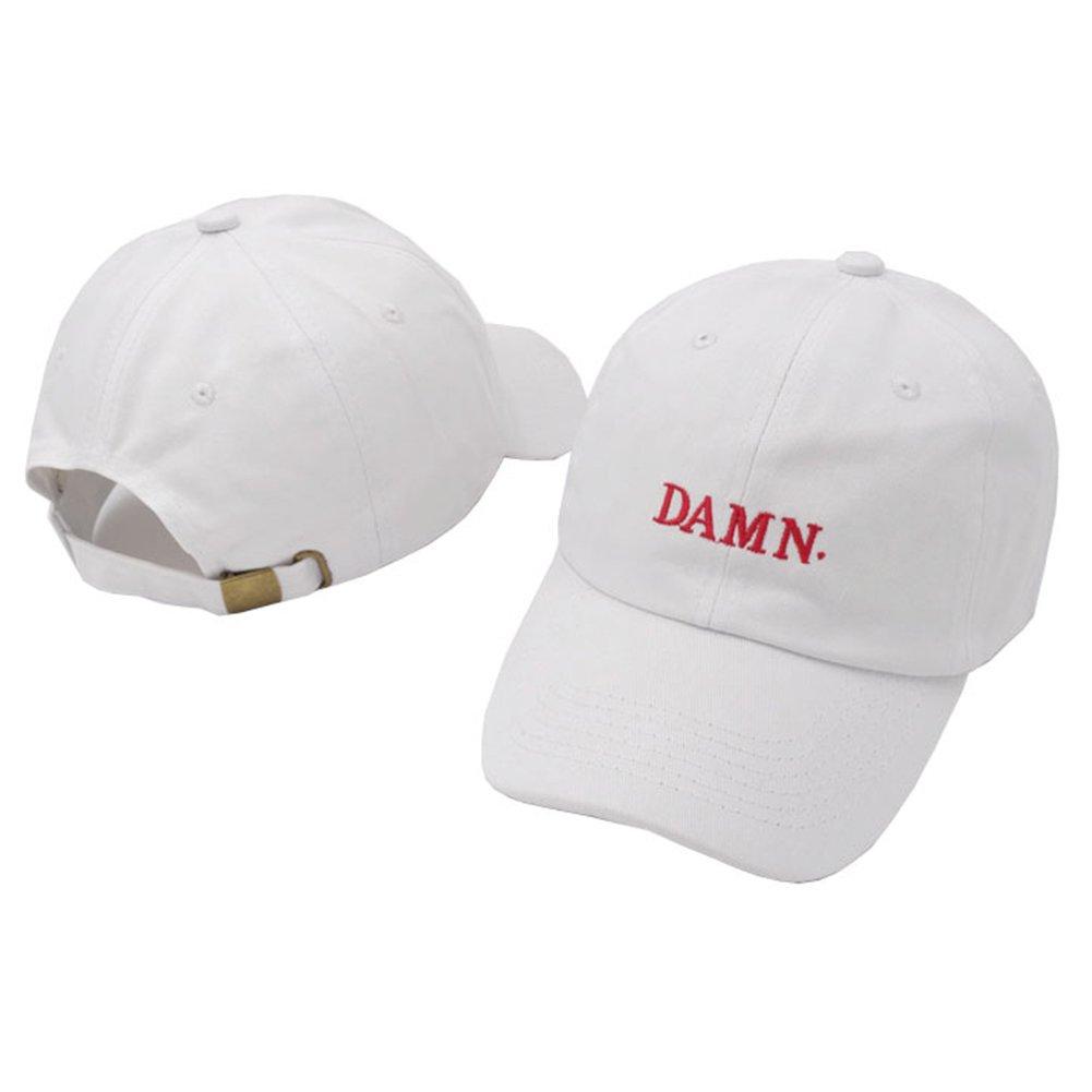 4ce51e9b72a Amazon.com  IreDi ne w Wine Red Kendrick Lamar Damn Cap Embroidery Damn  Black  Clothing