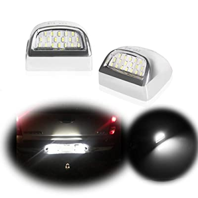 GTinthebox Led License Plate Light Lamp Assembly Replacement for Cadillac Escalade Chevy Silverado 1500 2500 3500 Suburban Tahoe GMC Sierra 1500 2500 3500 Yukon XL,6000K Diamond White,2PCS: Automotive [5Bkhe1505115]