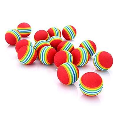 Diosn Practice Golf Balls, Foam, 50 Count, Rainbow