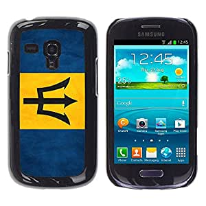 Paccase / SLIM PC / Aliminium Casa Carcasa Funda Case Cover - National Flag Nation Country Barbados - Samsung Galaxy S3 MINI NOT REGULAR! I8190 I8190N