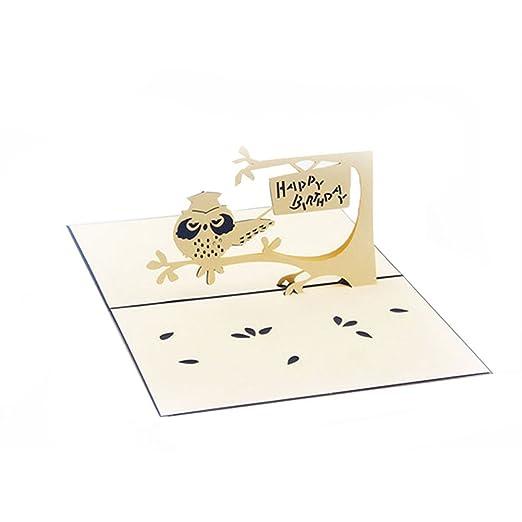 YO-HAPPY Tarjetas de felicitación Tarjeta emergente 3D ...