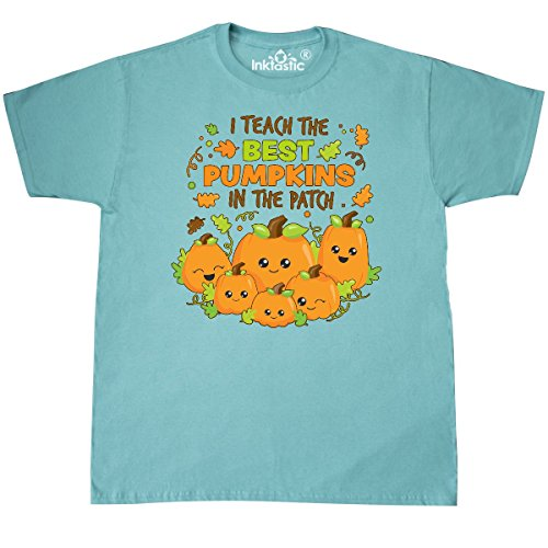 Inktastic - I Teach the Best Pumpkins in the Patch T-Shirt Large Scuba Blue