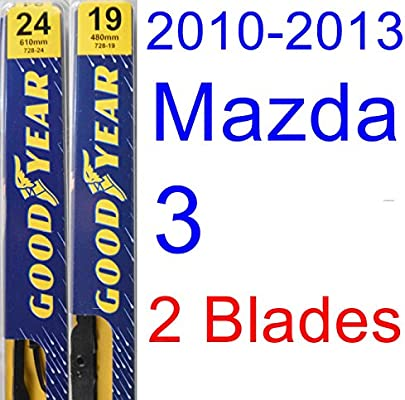 2013 mazda 3 hatchback rear wiper blade