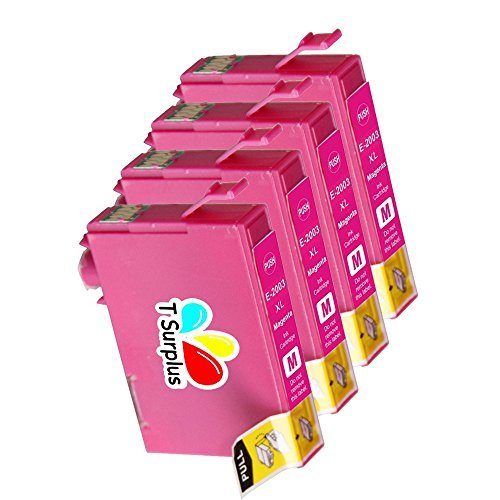 TS 4-PK Magenta T200XL (NOT T220) Remanufactured compatible ink cartridges for EPSON T200 (4 Magenta) Expression Home XP-200, Expression Home XP-300, Expression Home XP-400, workforce WF-2530, Workforce WF-2540