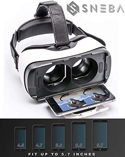 WapSter Vr Headset, Sneba White Virtual Reality, Headset VR Glasses for 3D Video Movies Games for Apple iPhone 11, Samsung Huwei HTC More Smartphones. 51Sw7JBnqBL