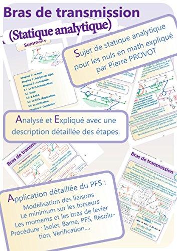 Statique analytique pour les nuls en math (Bras de transmission) (French Edition)