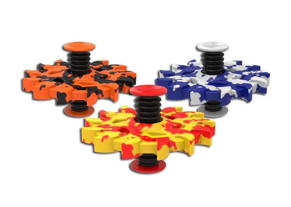 Spinnobi Original - The Bouncing Kids Toys. in & Outdoor Toys. Yard Games for Boy Toys and Girls Toys. Cool Fidget Spinners. 3 Pack (Razor)