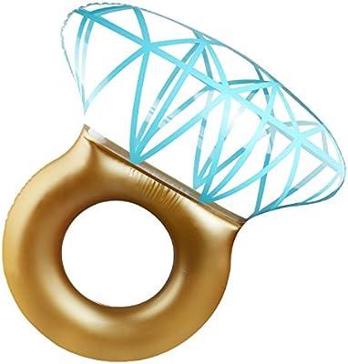 PovKeever Anillo de flotación hinchable con diamante para natación ...