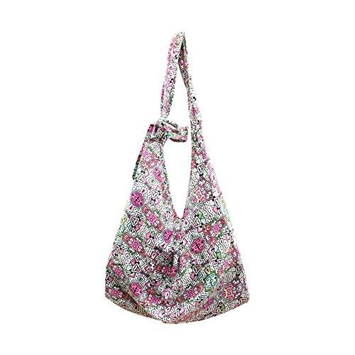 Beach Bucket 4 Large Bag Shoulder Bohemian Funbase Bag Women Fresh Cotton Hobo UwYPF60xq