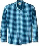 Wrangler Authentics Men's Big-Tall Long Sleeve Premium Gingham Shirt, Limoges, 3XL
