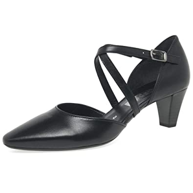 5d63c7d519a61 Amazon.com | Gabor Women's Callow Modern Cross Strap Court Shoes | Pumps