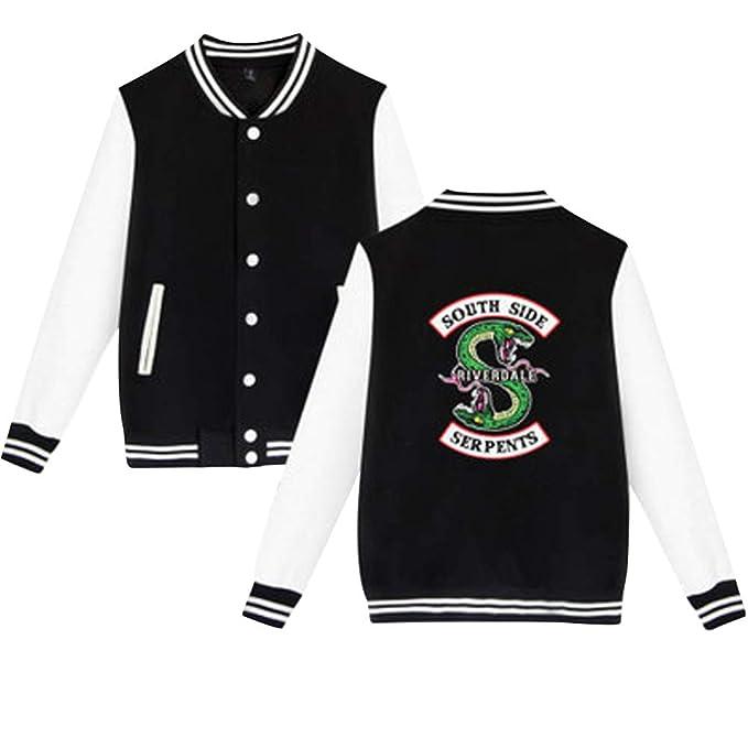 Southside Serpents Chaqueta Beisbol Hombre Mujer Swag Riverdale Sudadera Aviador Abrigos Pullover Hip Hop T Shirt Camiseta Manga Larga Otoño Invierno ...