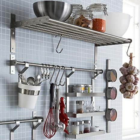 Ikea Grundtal set da cucina in acciaio INOX, mensola, rail ...