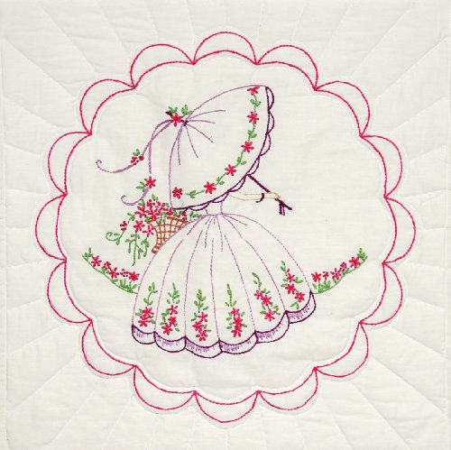Fairway 95192 Quilt Blocks, Parasol Lady Design, 18 by 18...