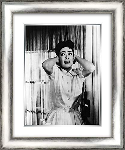 Joan Crawford 1956 Autumn Leaves 20x24 Silver Contemporary Wood Framed and Double Matted Art Print by - Autumn Crawford Joan Leaves