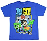 Teen Titans GO! Boys' Trio T-Shirt (Small) Royal Blue