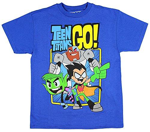 Teen Titans GO! Boys' Trio T-Shirt (X-Large)