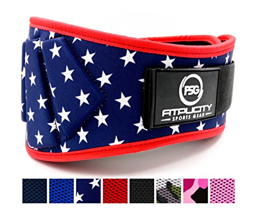 Weight Lifting Belt by Fitplcity (Old Glory, Small)