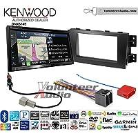 Volunteer Audio Kenwood DNX574S Double Din Radio Install Kit with GPS Navigation Apple CarPlay Android Auto Fits 2009-2011 Kia Borrego