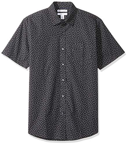 - Amazon Essentials Men's Regular-Fit Short-Sleeve Print Shirt, Small Floral, XX-Large
