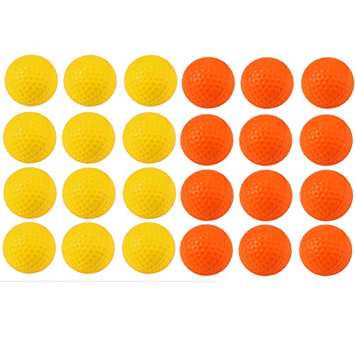 Kofull Practice Golf Balls, Golf Foam Sponge Soft Elastic Practice Indoor &Outdoor Ball -24/ Pack ()