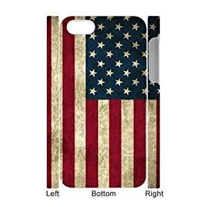 EZCASE American Retro Flag Phone Case For Iphone 4/4s [Pattern-1]