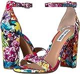 Steve Madden Women's Carrson Heeled Sandal, Flower Multi, 9.5 M US
