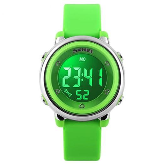 Niños reloj digital niños deportes relojes para niños niñas resistente al agua relojes con alarma calendario