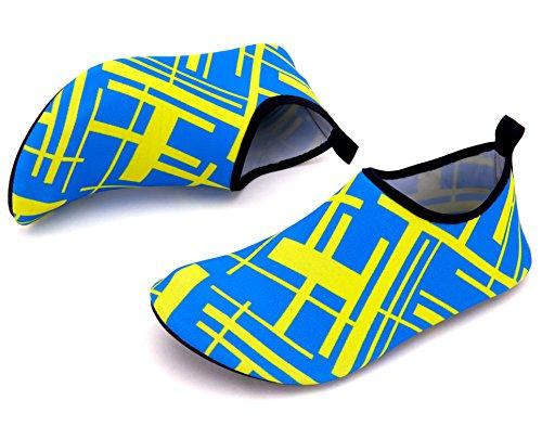 Giotto Scarpe Da Ginnastica A Piedi Nudi Yoga Beach Swim Aqua Shoes Per Donna Uomo F2-blu