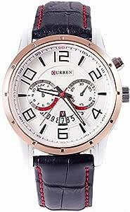 ساعة كارين الرجالية بحزام من الجلد، (KP10)