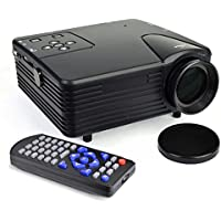 20 - 100 Display 80 Lumen LED Digital Projector w/HDMI, VGA, USB & SD Card Ports - Black