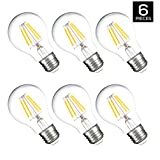 Hyperikon A19 LED Vintage Filament Bulb, 7W (60W Equivalent), 820 lumen, 3000K (Soft White Glow), 340° Omnidirectional, Medium Base (E26), IC Driver, CRI 80+, 120v, Dimmable, UL-Listed - (Pack of 6)