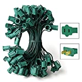 25 ft. Stringer 25 C7 Candelabra Sockets Green Wire Commercial Duty HLS C7-0025-12-1-G