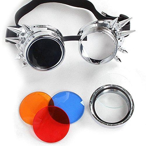 Welding Punk Glasses Cosplay (Bronze) - 8