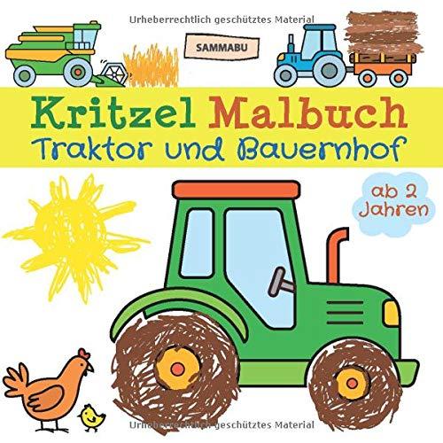 Kritzel Malbuch Traktor Und Bauernhof Ab 2 Jahren Fahrzeuge Und
